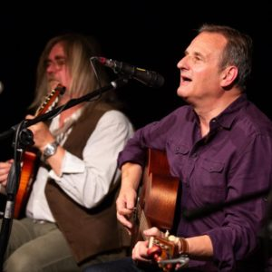 Mark Radcliffe, Dave Russell, Chris Lee at Folk at the Theatre 2018