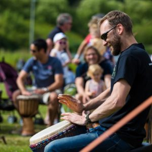 Drumroots at Music on The Moor 2018