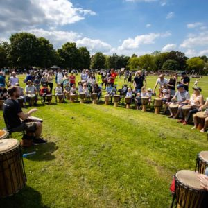 Drumroots at Music on the Moor, KMF 2019